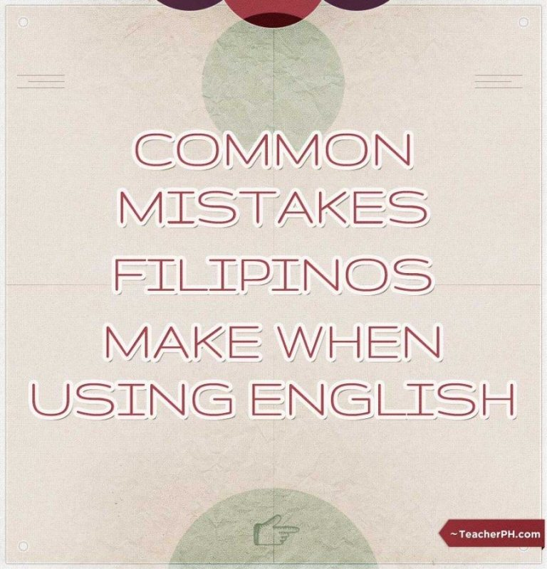 Common mistakes Filipinos make when using English