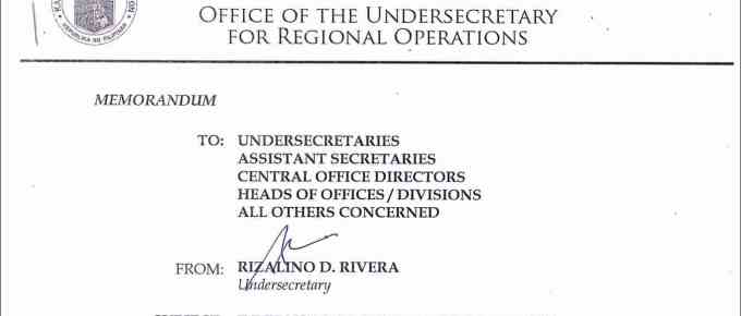 Internship Program Guidelines for DepEd Central Office Trainees