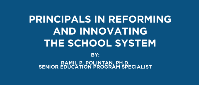 Principals in Reforming and Innovating the School System