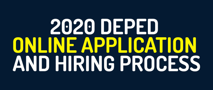 2020 DepEd Online Application and Hiring Process