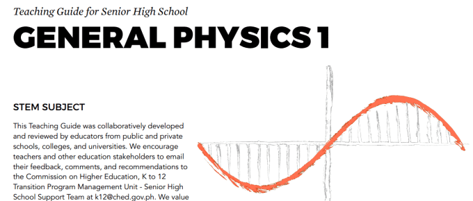 General Physics 1 Senior High School SHS Teaching Guide