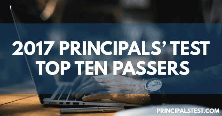 2017 Principals' Test Top Ten Passers