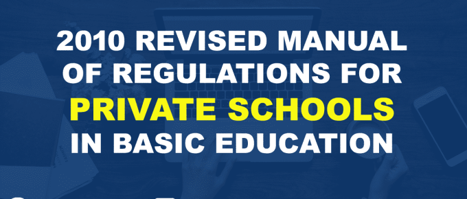 2010 Revised Manual of Regulations for Private Schools in Basic Education