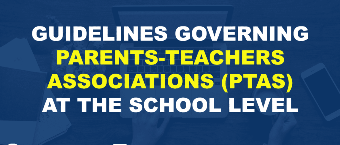 REVISED GUIDELINES GOVERNING PARENTS-TEACHERS ASSOCIATIONS (PTAS) AT THE SCHOOL LEVEL