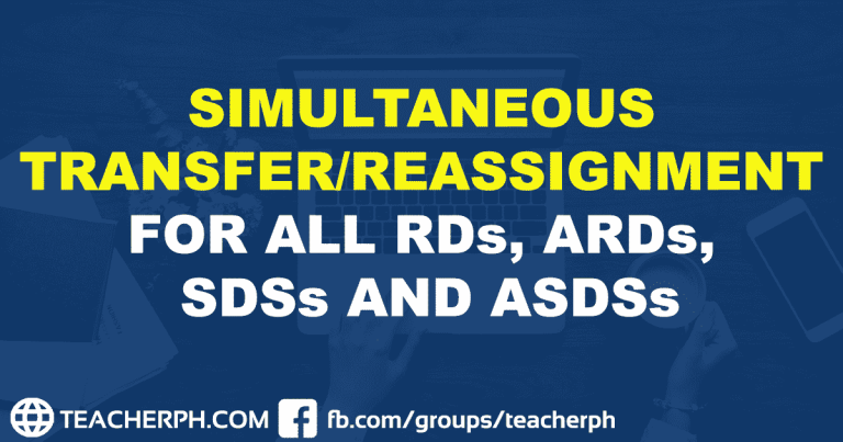 SIMULTANEOUS TRANSFER REASSIGNMENT FOR ALL RDS, ARDS, SDSS AND ASDSS