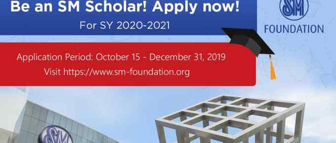 SM Foundation College Scholarship Program for School Year 2020-2021
