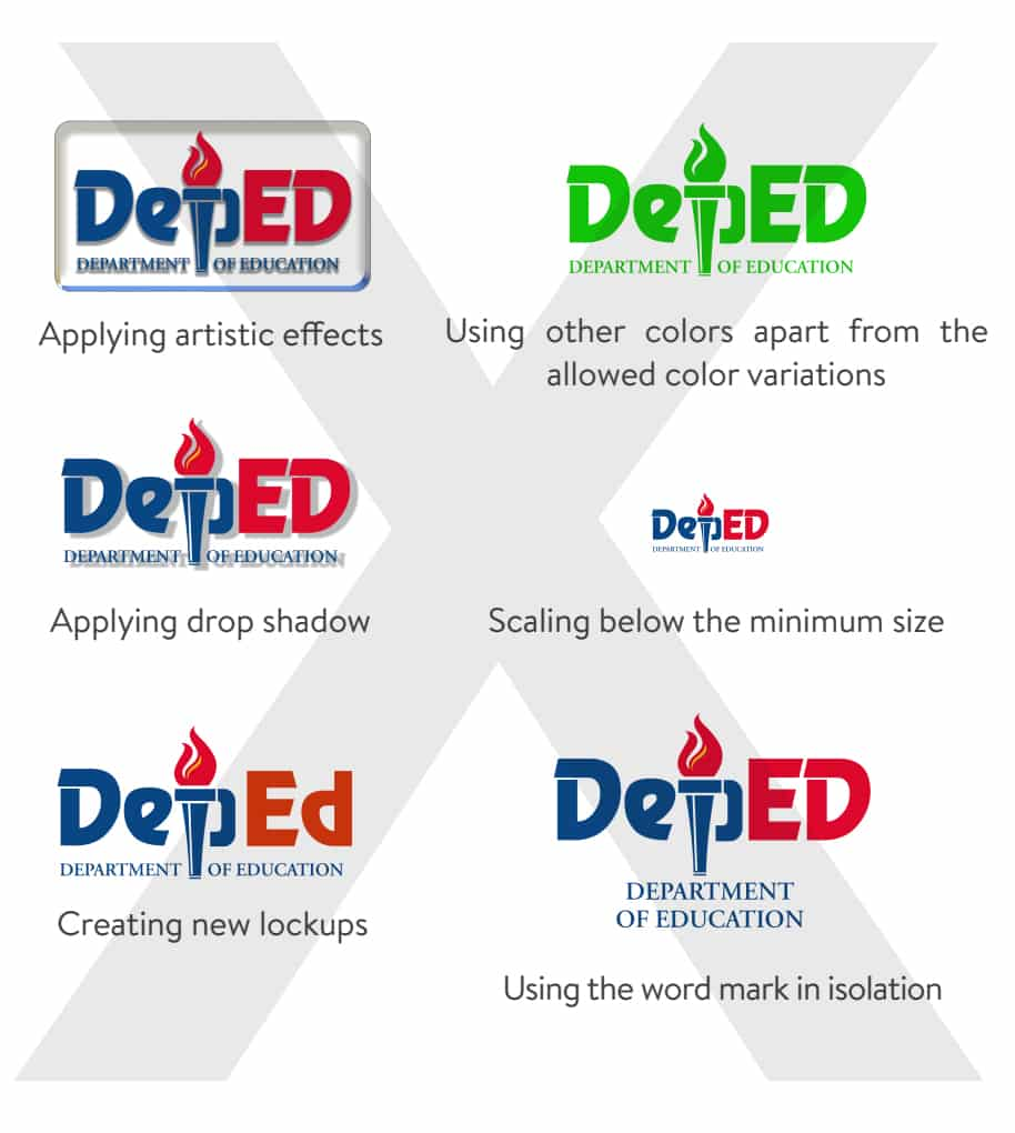 DepEd Logo and Usage: Don'ts