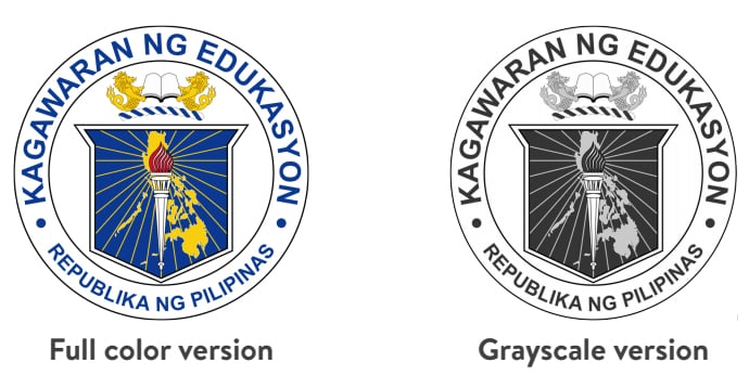 DepEd Seal Color Variations
