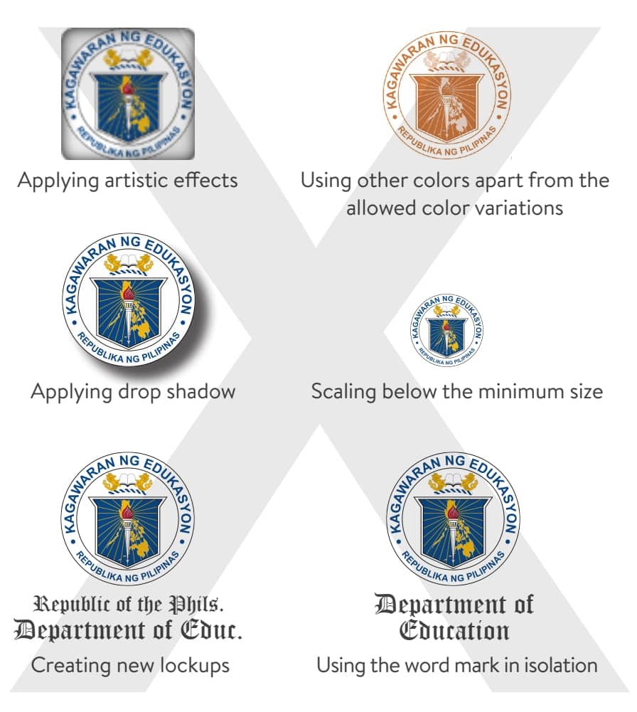 DepEd Seal and Usage: Don'ts