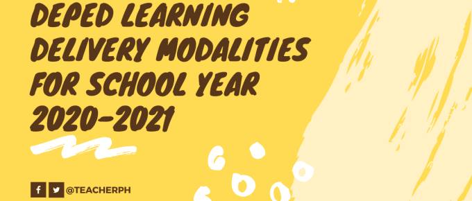 DepEd Learning Delivery Modalities for School Year 2020-2021