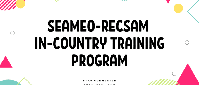 SEAMEO-RECSAM IN-COUNTRY TRAINING PROGRAM