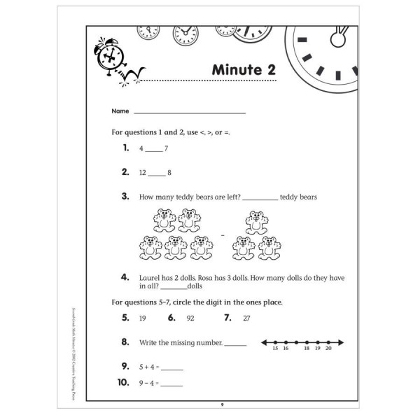 Math Minutes- Second Grade