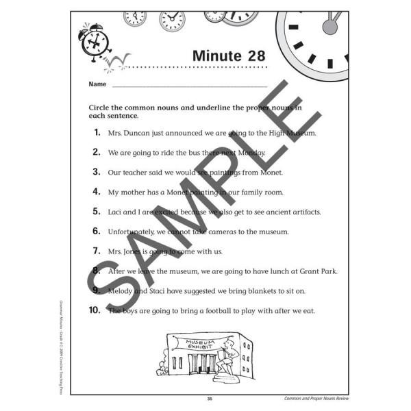 Grammar Minutes Book Grade 4