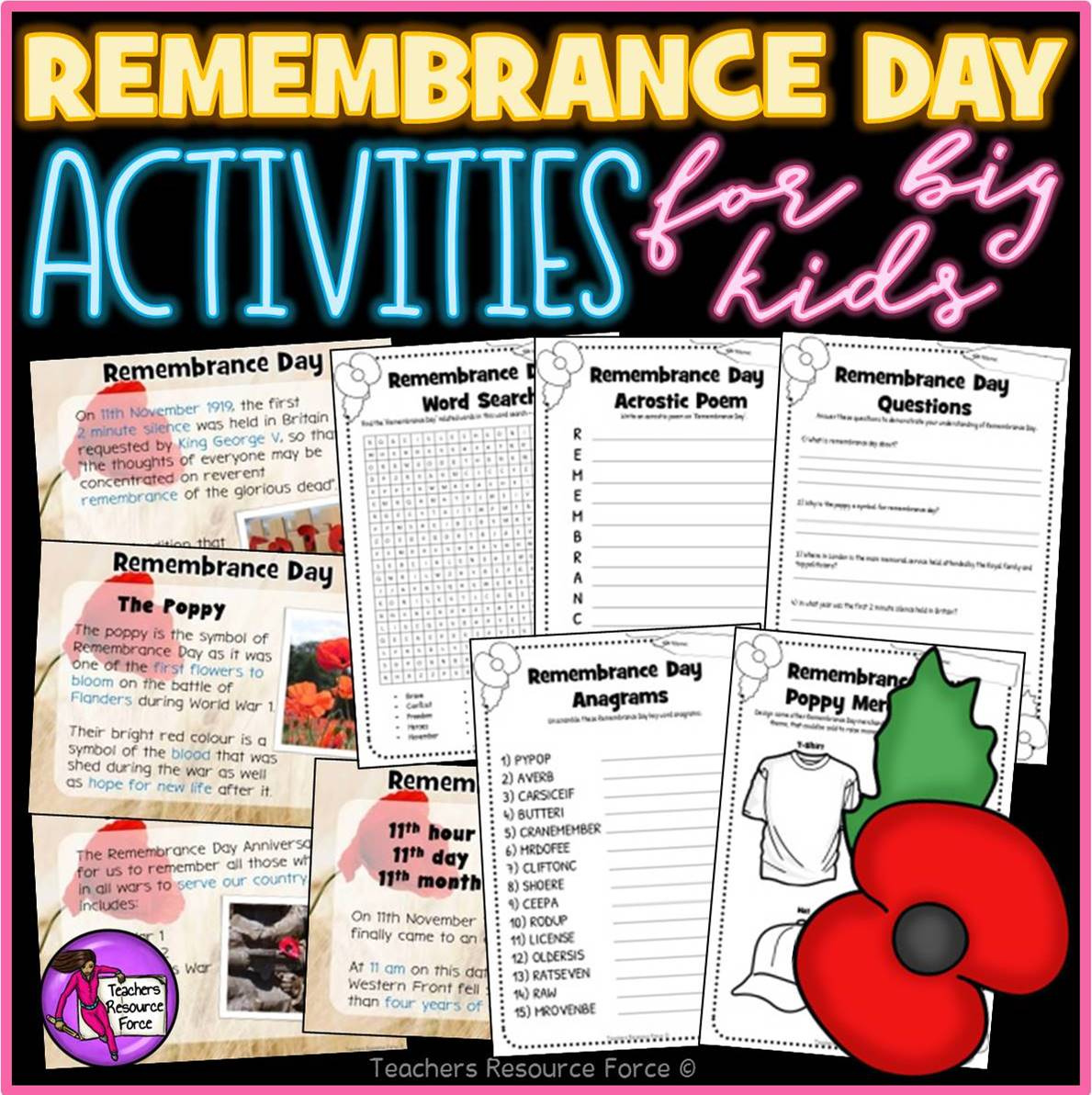 Remembrance Day Presentation And Activities For Teens
