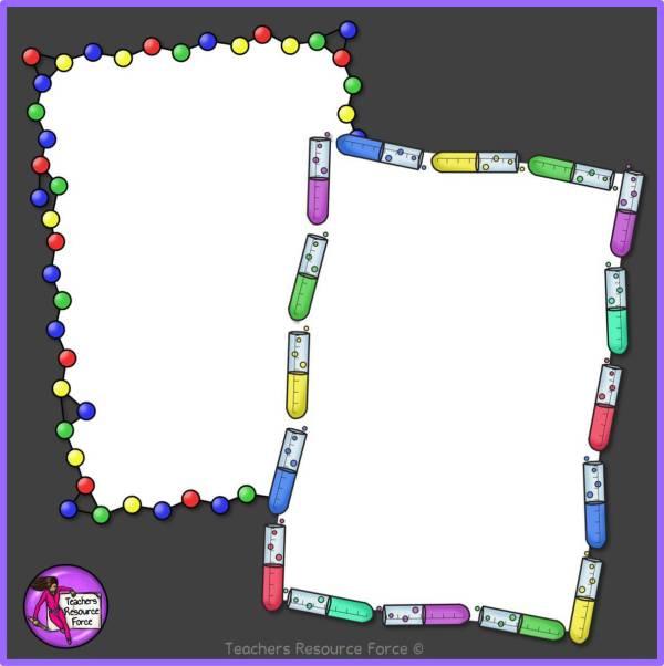 Science Borders Clip Art - Set 1