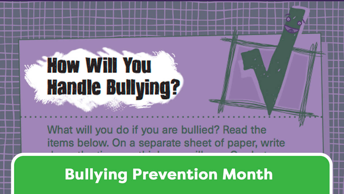 hight resolution of Handling Bullying: A Checklist for Students - TeacherVision