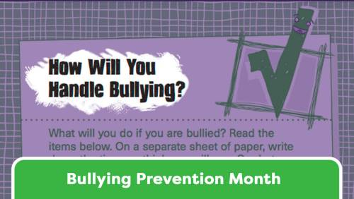 small resolution of Handling Bullying: A Checklist for Students - TeacherVision