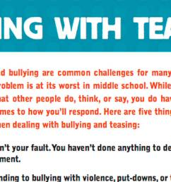 Tips and Tricks for Dealing with Teasing in Middle School - TeacherVision [ 678 x 1200 Pixel ]