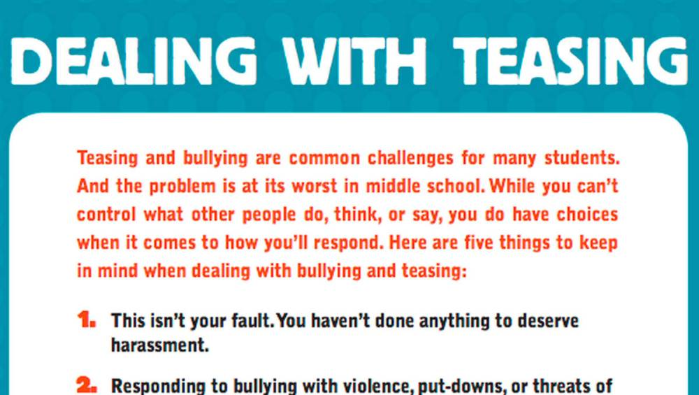 medium resolution of Tips and Tricks for Dealing with Teasing in Middle School - TeacherVision