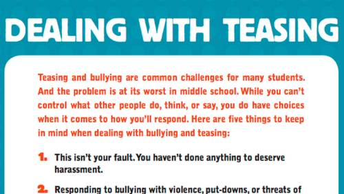 small resolution of Tips and Tricks for Dealing with Teasing in Middle School - TeacherVision