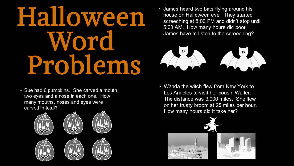hight resolution of Creating Halloween Word Problems (Halloween Printable) - TeacherVision