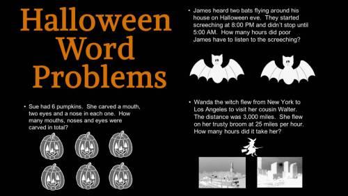 small resolution of Creating Halloween Word Problems (Halloween Printable) - TeacherVision