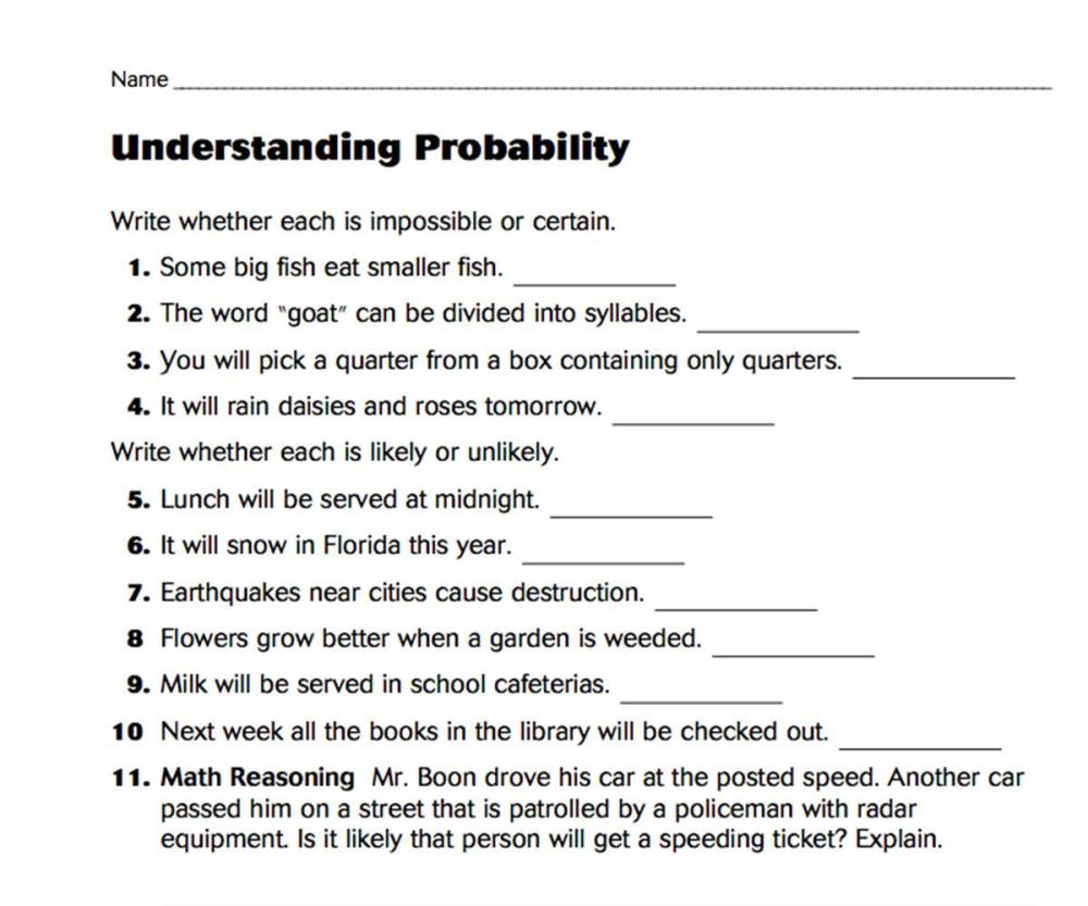 medium resolution of Understanding Probability - TeacherVision