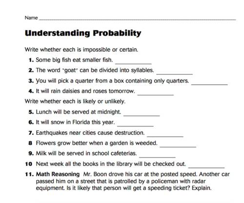 small resolution of Understanding Probability - TeacherVision