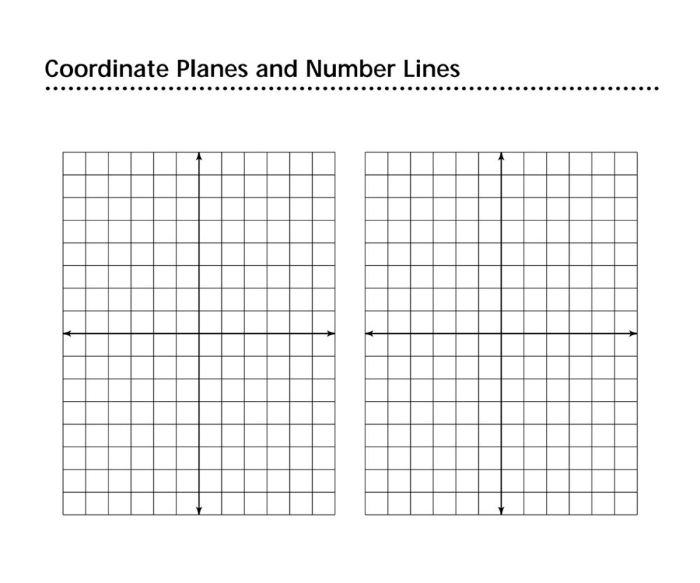 medium resolution of Coordinate Planes and Number Lines Printable (4th - 9th Grade) -  TeacherVision