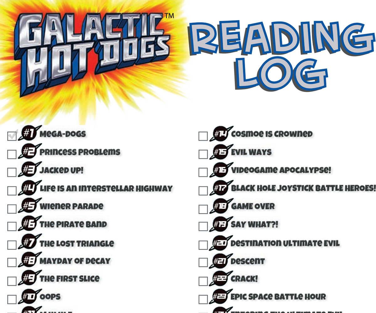 Galactic Hot Dogs Reading Log