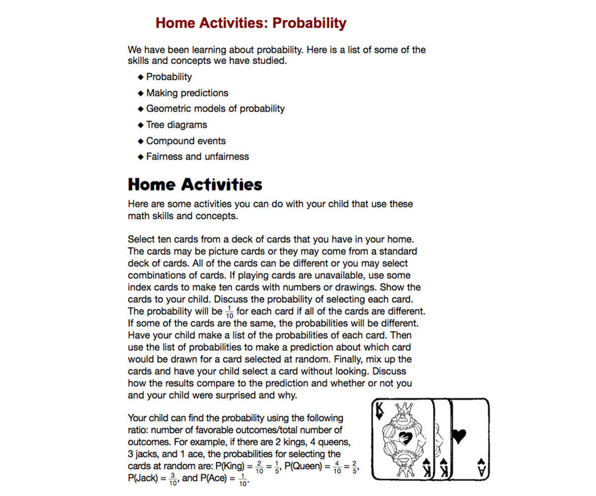 hight resolution of Home Activities: Probability - TeacherVision
