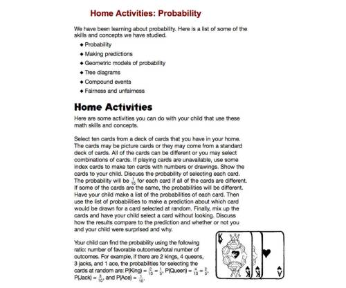 small resolution of Home Activities: Probability - TeacherVision