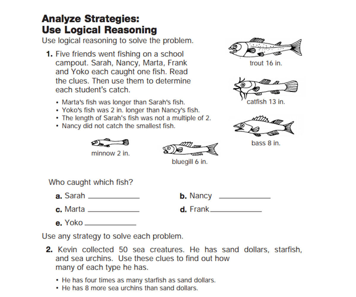 Logical Thinking Worksheet For Kindergarten