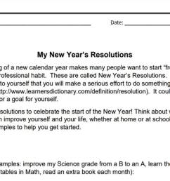 My New Year's Resolutions (3-6)   Goal-Setting Activity   Holiday Printable  - TeacherVision [ 678 x 1200 Pixel ]