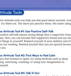 Tools for A Positive Attitude Student Worksheet - TeacherVision [ 678 x 1200 Pixel ]