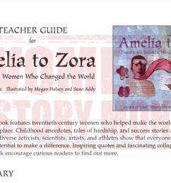Amelia to Zora Teacher Guide - Literature Printable [ 678 x 1200 Pixel ]