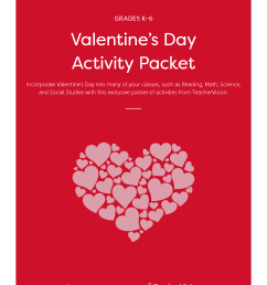 Valentine's Day Activities Packet - TeacherVision [ 2200 x 1700 Pixel ]