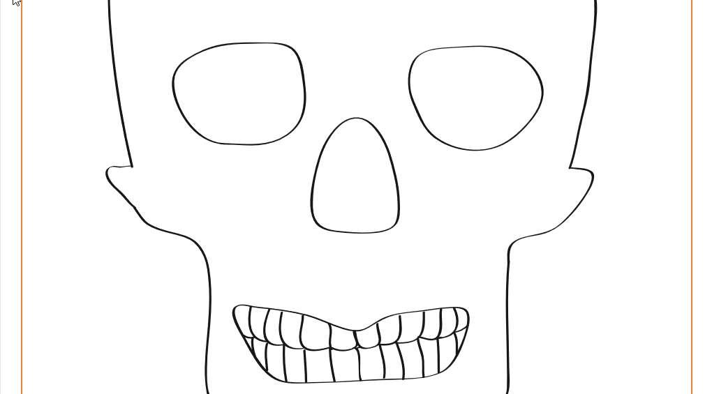 Printable Skull Decoration for Dia de Los Muertos