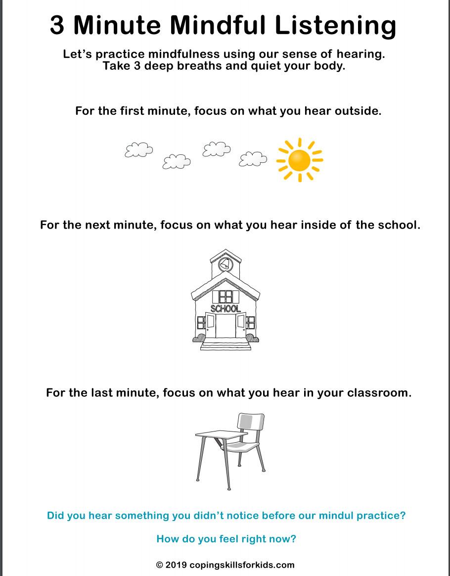 medium resolution of Three Minute Mindful Listening - TeacherVision