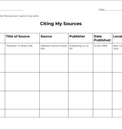 Citing Research Sources Graphic Organizer - TeacherVision [ 1238 x 1604 Pixel ]