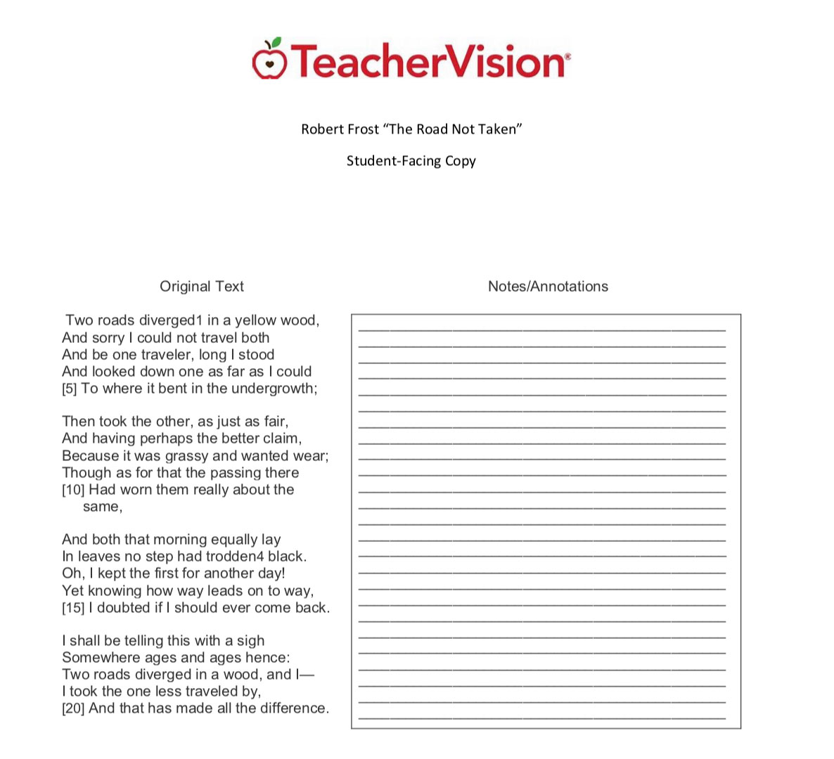 hight resolution of Comparing and Contrasting Poetry Lesson Plans - TeacherVision