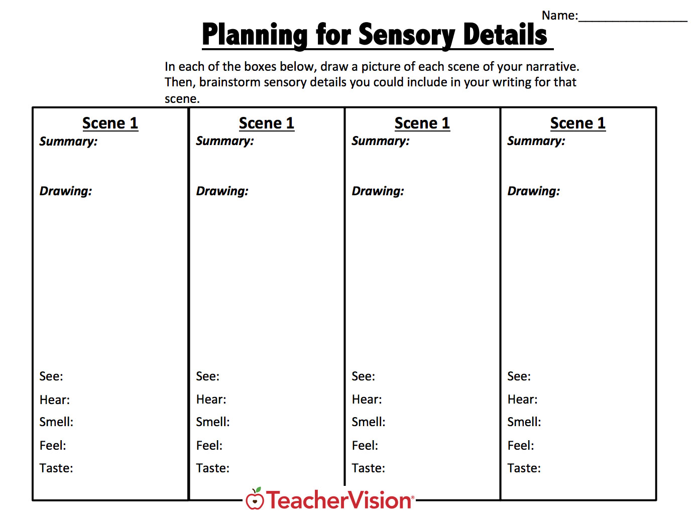 hight resolution of Writing A Narrative Graphic Organizers Set - TeacherVision