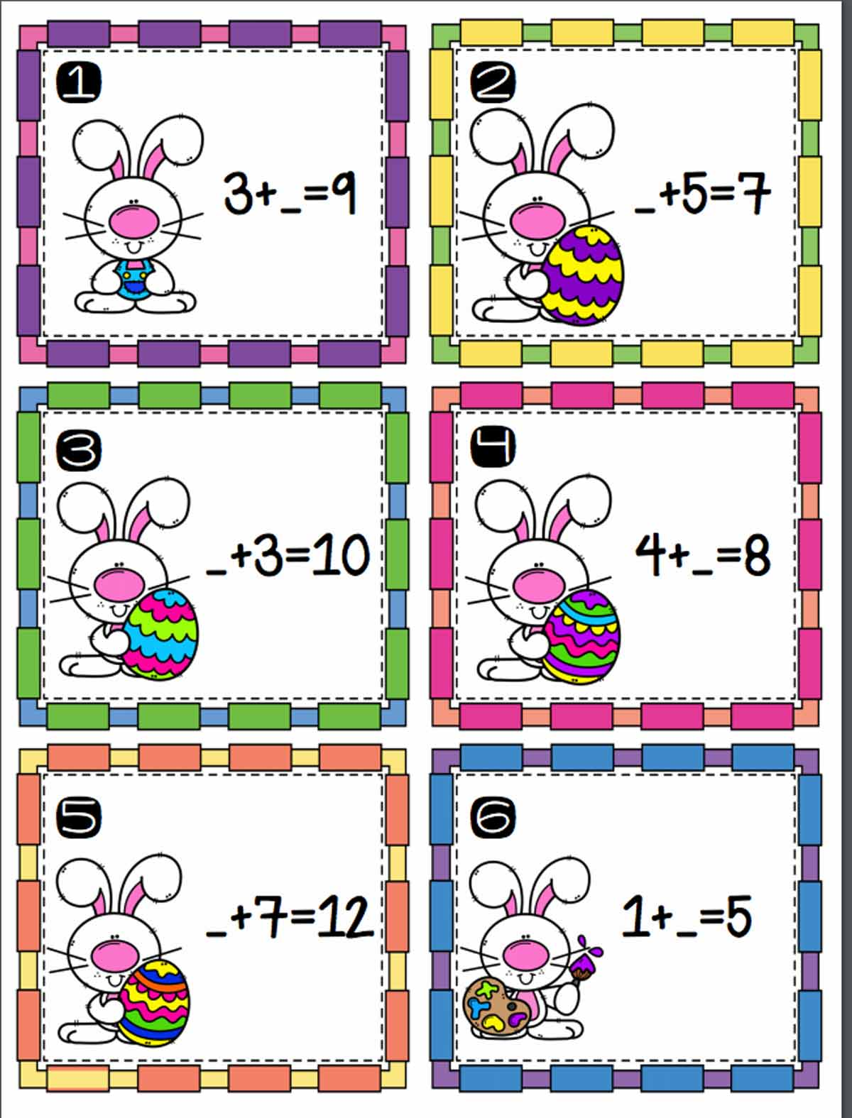 hight resolution of Easter Addition Scoot Activity - TeacherVision