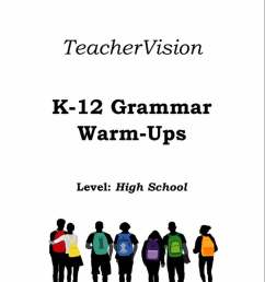 High School Grammar Warm-Ups Packet - TeacherVision [ 1029 x 800 Pixel ]