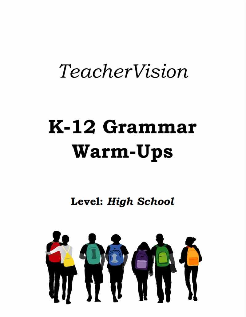 medium resolution of High School Grammar Warm-Ups Packet - TeacherVision
