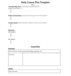 Daily Lesson Plan Template - TeacherVision [ 1282 x 1000 Pixel ]