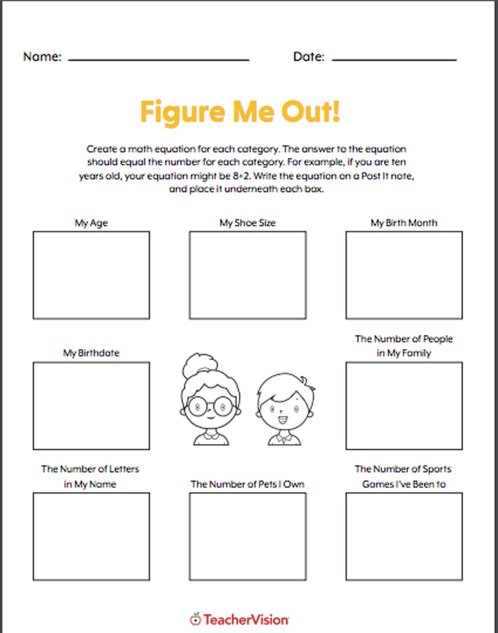 hight resolution of Figure Me Out Icebreaker - TeacherVision