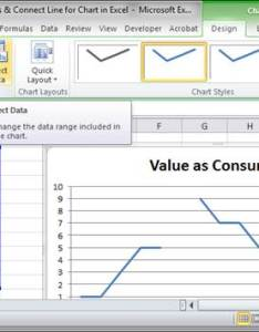 Click the desired chart and then go to design tab that should appear select data also connect line for  in excel skip blanks teachexcel rh