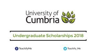 Undergraduate Scholarships at University of Cumbria in UK