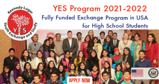 Kennedy Lugar YES Program (2021-2022) in USA Fully Funded Exchange Program for School Students